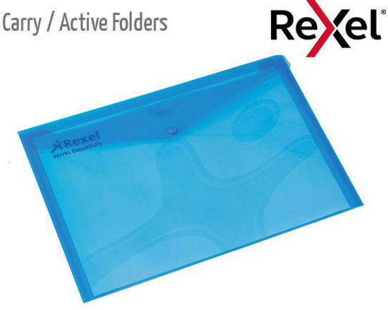 Picture of A3 Carry Folder with stud close PVC clear 160mic