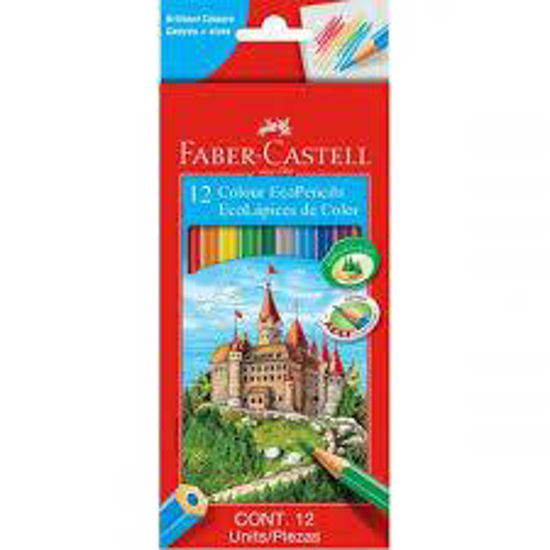 Picture of Faber-Castell colouring pencils 12's full length (hex shape)