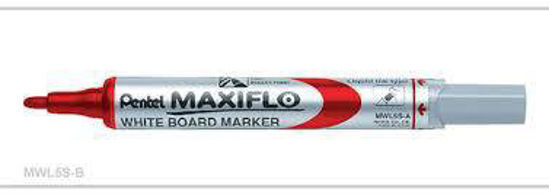 Picture of Pentel Maxiflo White Board Marker 4,0mm Pump Action - Red