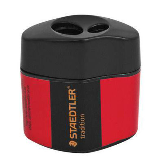Picture of Steadler Sharpener Double hole with tub red & black