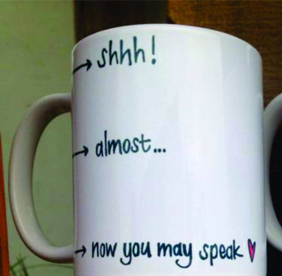 Picture of Koffie Beker - shhh! Almost… now you may speak