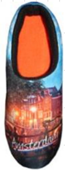 Picture of Clog slippers Amsterdam, night picture, size 6-8(eu 39-41)
