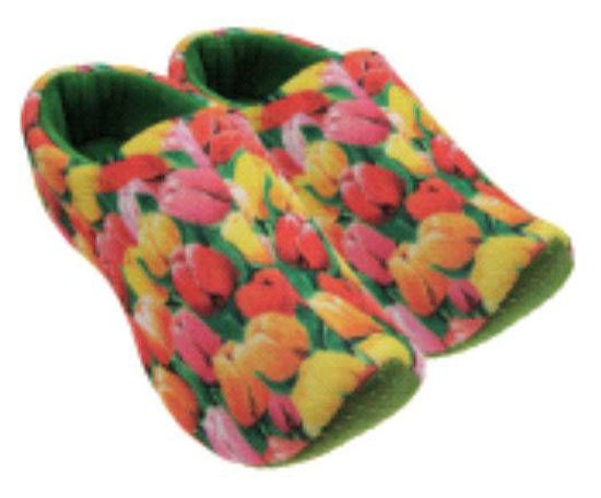Picture of Clog slippers green tulip, kids size 13-4(eu 31-35)