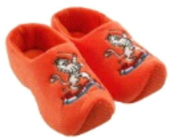 Picture of Clog slippers orange lion, kids size 1-3(eu 16-19)
