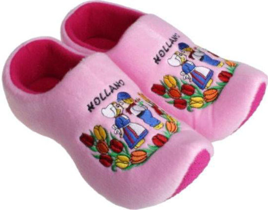 Picture of Clog slippers Pink kissing couple, kids size 8-13(eu 25-30)