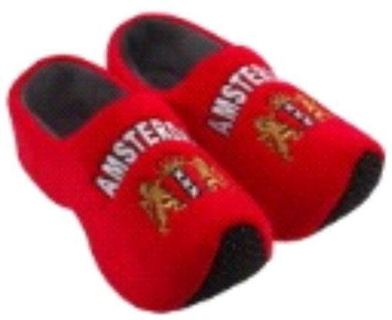 Picture of Clog slippers red Amsterdam, kids size 13-4(eu 31-35)