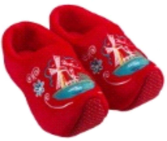 Picture of Clog slippers red mill, kids size 1-3(eu 16-19)