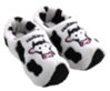Picture of Clog slippers white cow, kids size 13-4(eu 31-35)