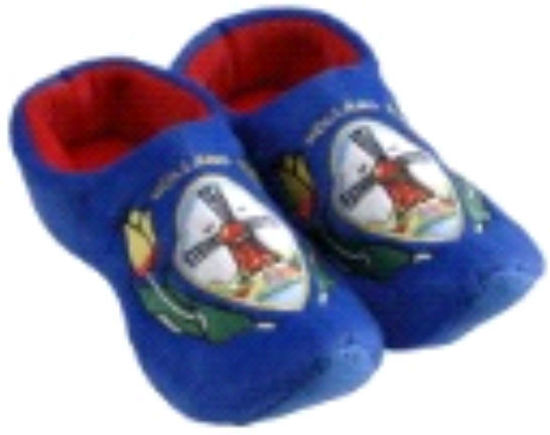 Picture of Clog slippers blue tulip, kids size 8-13(eu 25-30)