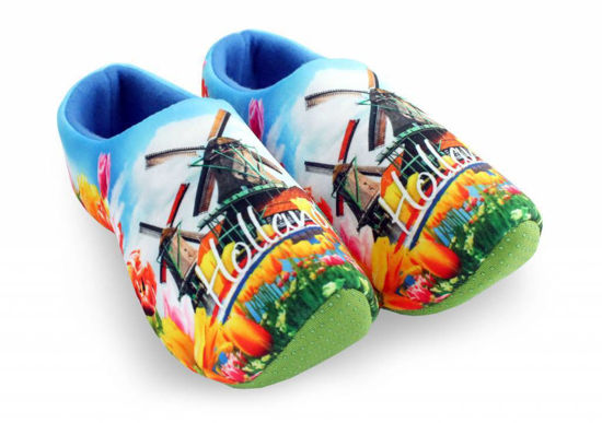 Picture of Clog slippers Holland picture, size 4-6(eu 36-38)