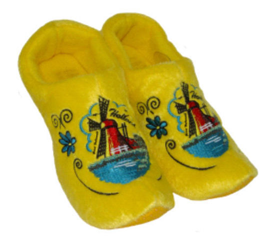 Picture of Clog slippers yellow mill, kids size 4-8(eu 20-24)