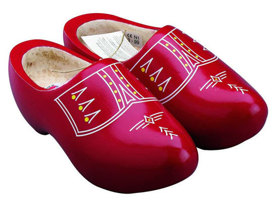 Picture of Wooden clogs red size 5(eu 37)
