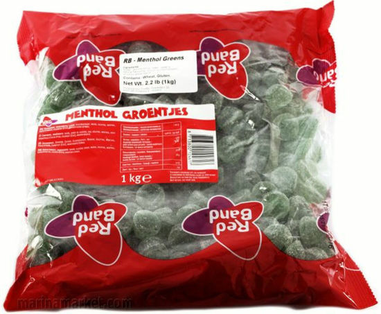 Picture of Red Band Mentho Groentjes 1kg