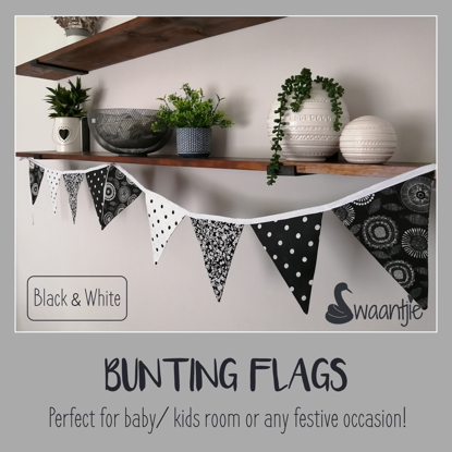 Picture of Bunting Flags_ Black and white