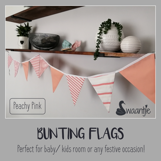 Picture of Bunting Flags_ Peachy Pink