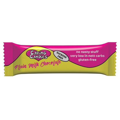Picture of Caring Candies Sucrose Free Plain Milk Chocolate Bar 50g