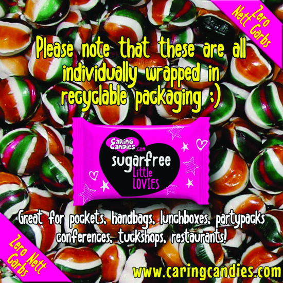 Picture of Bulk Sugar Free Little Lovies Toffee Mint 100g